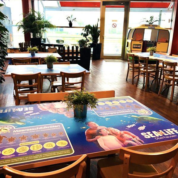 Restaurant Tische Sea Life