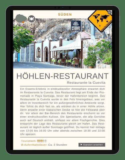 Restaurante la Cuevita - 88 La Gomera Highlights Sehenswürdigkeiten Ausflüge Aktivitäten Orte
