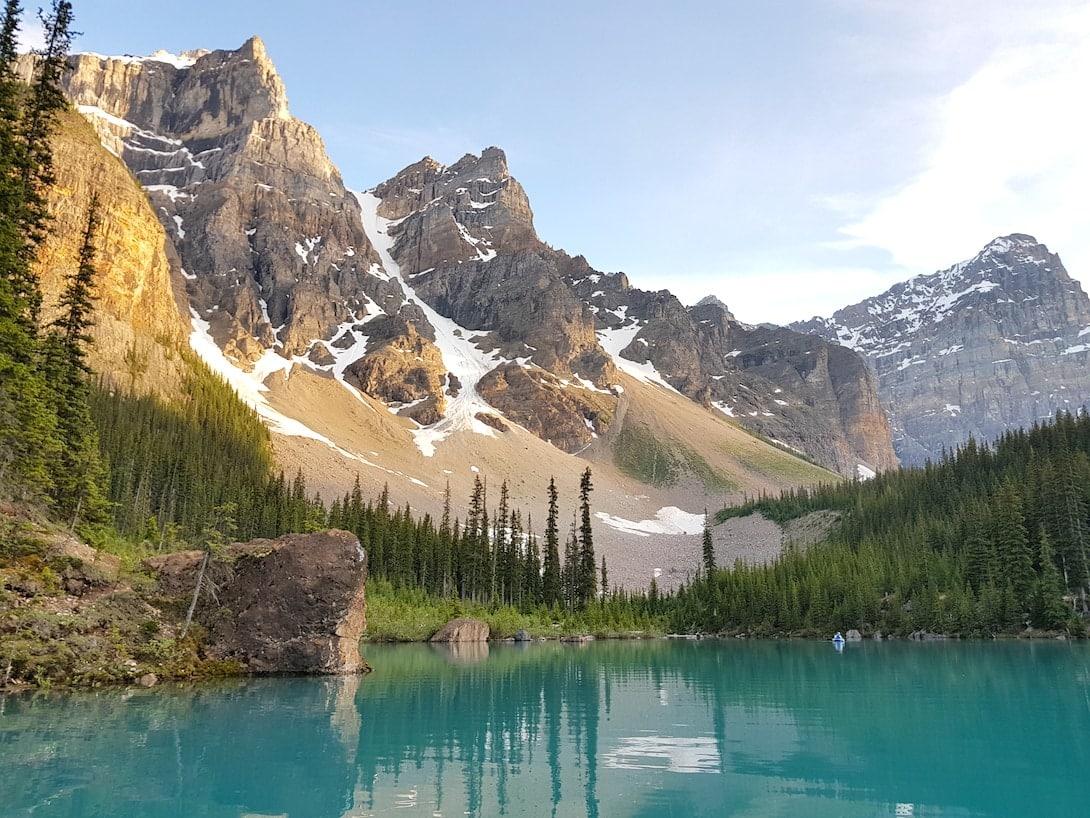 Rocky Mountains Kanada Lake Moraine Ten Peaks