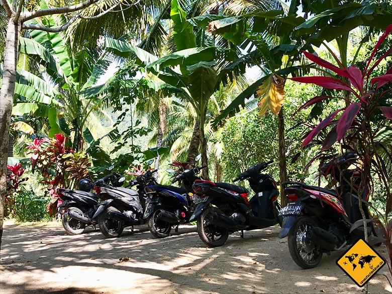 Rollerparkplatz Tiu Pupus Wasserfall Lombok