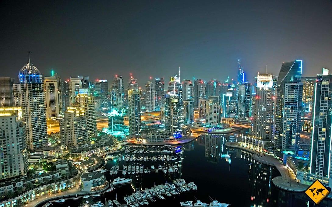 Rooftop Bar Dubai Marina von oben