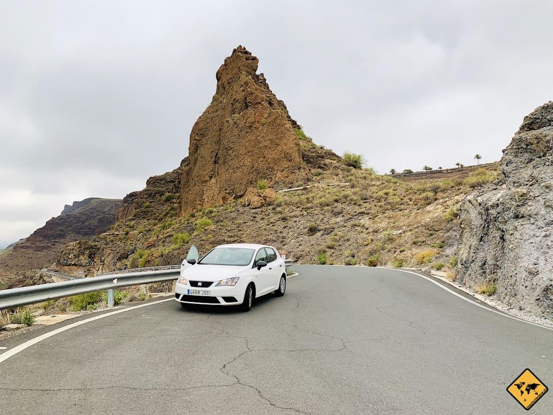Roque Nublo Anfahrt Mietwagen