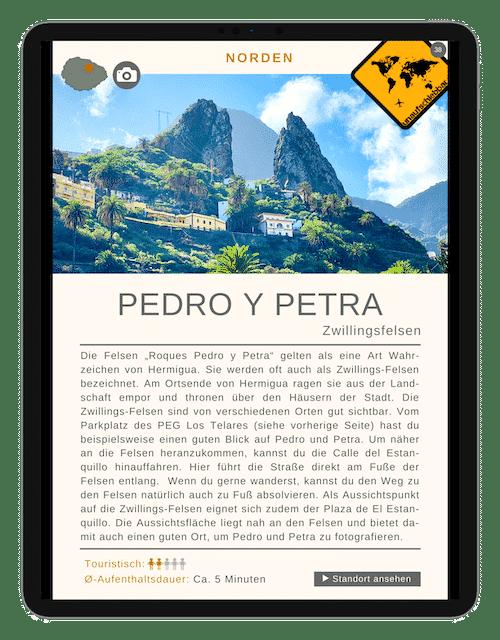 Roques Pedro y Petra - La Gomera Highlights Sehenswürdigkeiten Ausflüge Aktivitäten Orte