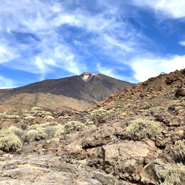 Roques de García wandern auf Teneriffa Aussicht Teide