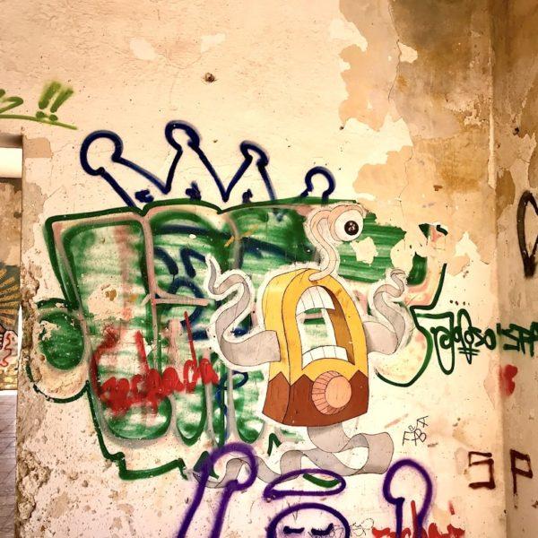 Ruinen Graffiti Geisterstadt Abades Teneriffa