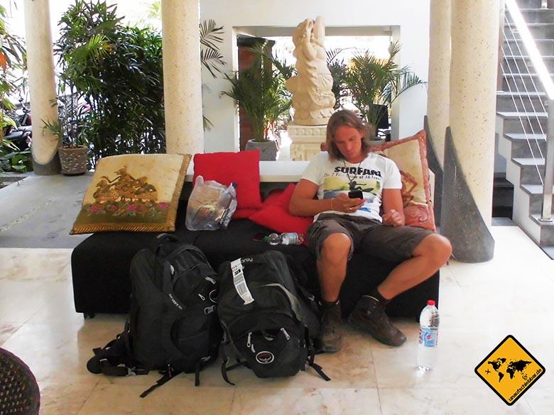 Rundreise Bali und Lombok Gepäck