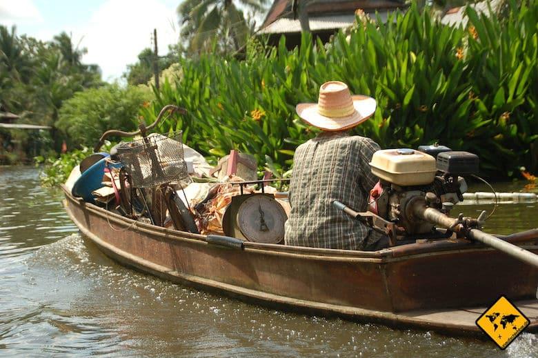 Rundreise Nordthailand Damnoen Saduak Floating Market