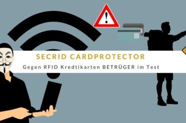 SECRID Cardprotector Test (Wallet gegen RFID Kreditkarten BETRÜGER)