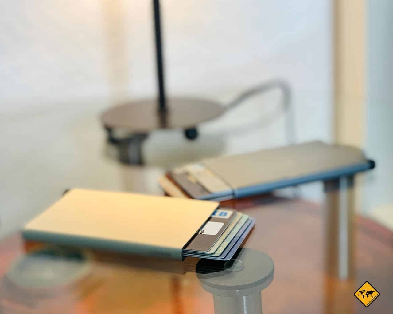 Kartenetui mit RFID-Schutz Aluminium Titanium