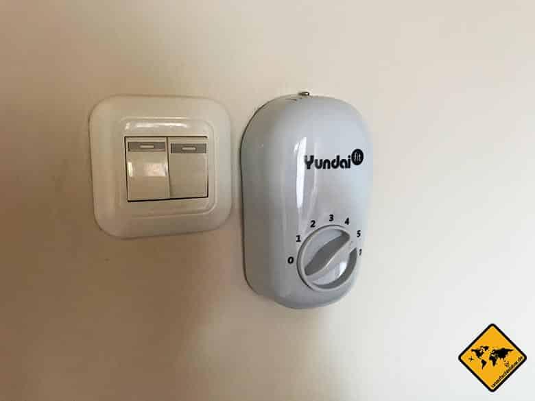Sakha House Ubud Ventilator Regelung