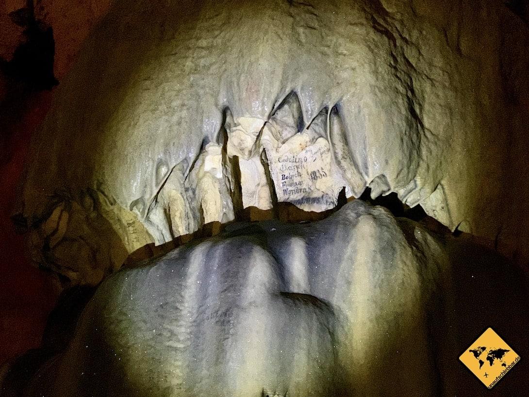 Samograd Höhle Unterschriften Österreicher