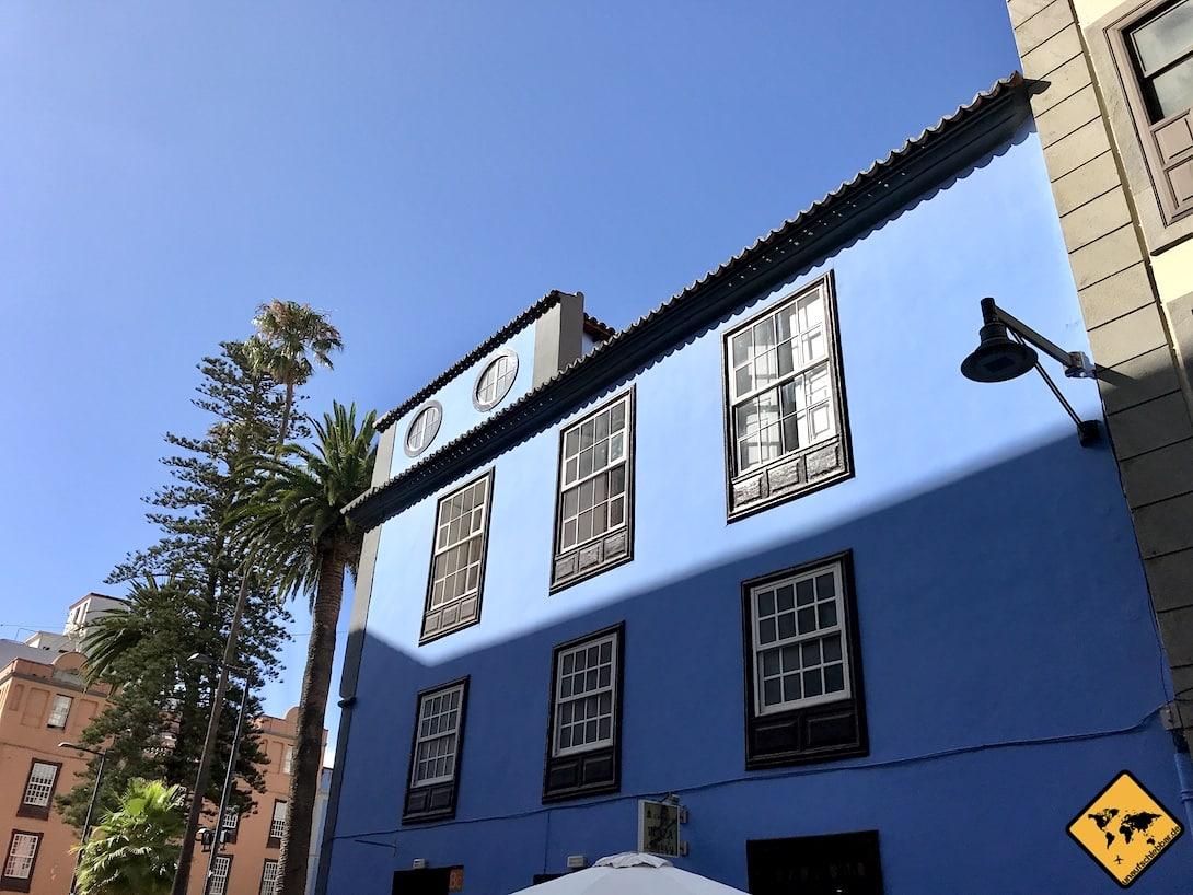 Die historische Altstadt von San Cristóbal de la Laguna Teneriffa beherbergt zahlreiche farbenfrohe Gebäude