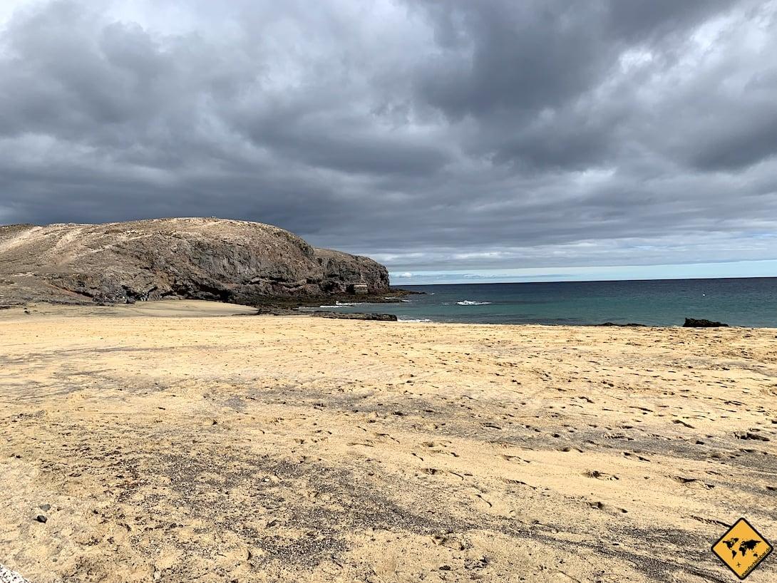 Sand Playa Puerto Muelas Papagayo Strände Lanzarote