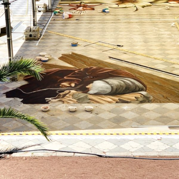 Sandgemälde Teneriffa Entstehung