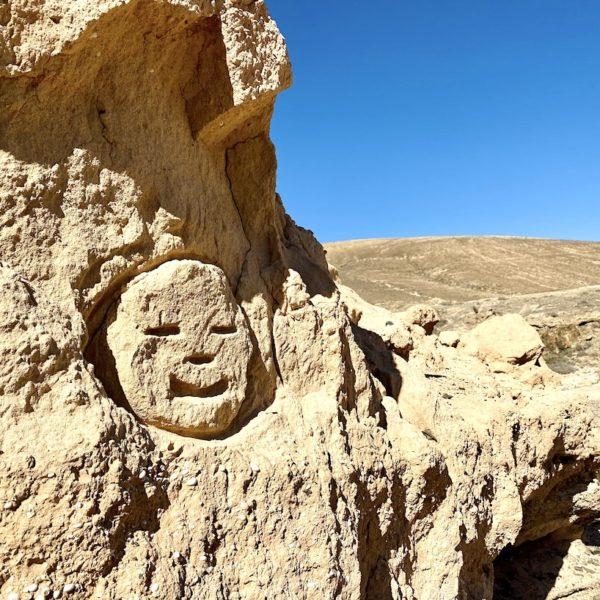 Sandstein Gesicht Barranco de los Enamorados