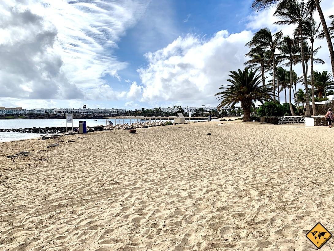 Sandstrand Playa de las Cucharas Costa Teguise Lanzarote