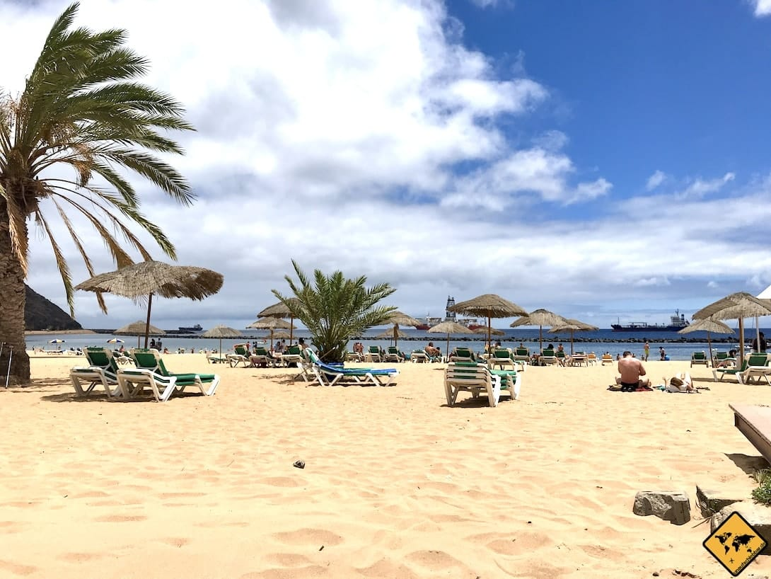 Sandstrand auf Teneriffa Playa de las Teresitas