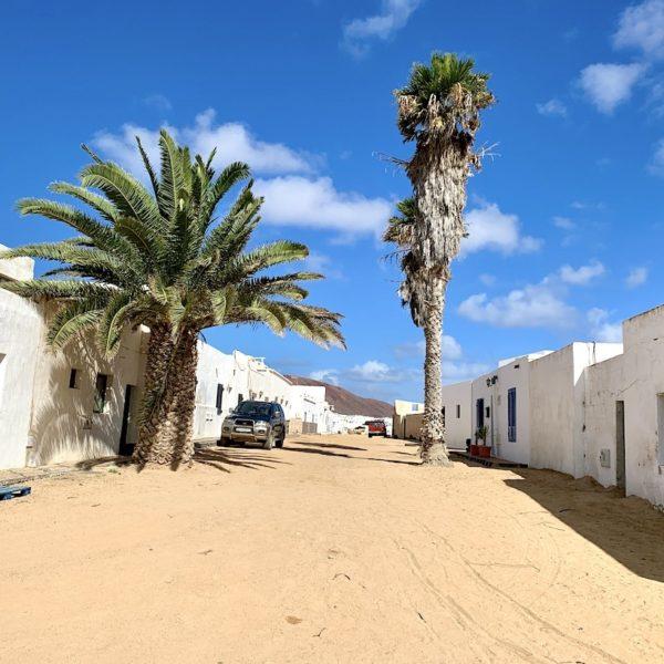 Sandstraße La Graciosa Spanien