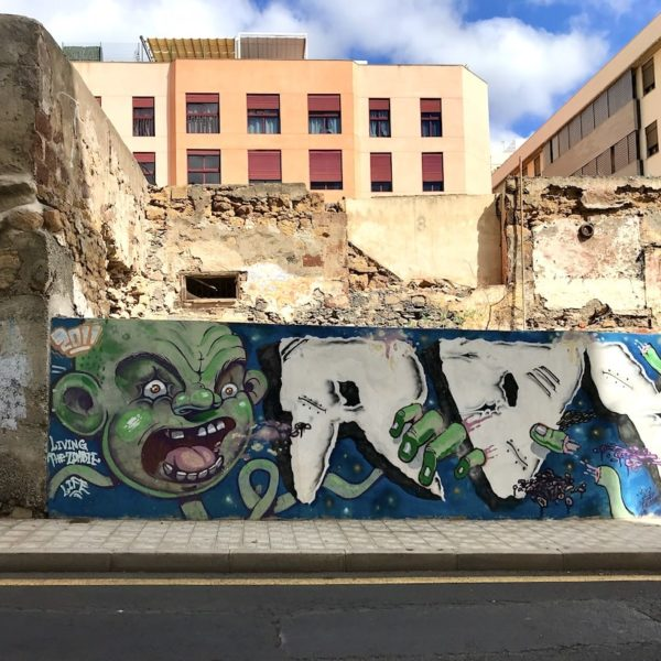 Santa Cruz de Tenerife Graffiti Mauer
