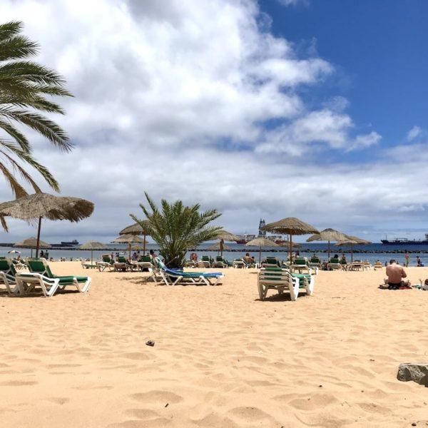 Santa Cruz de Tenerife Playa de las Teresitas Strand