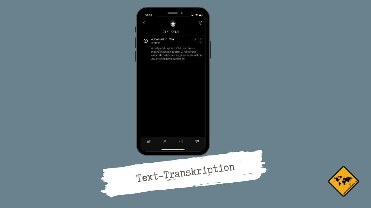Satellite App Text-Transkription
