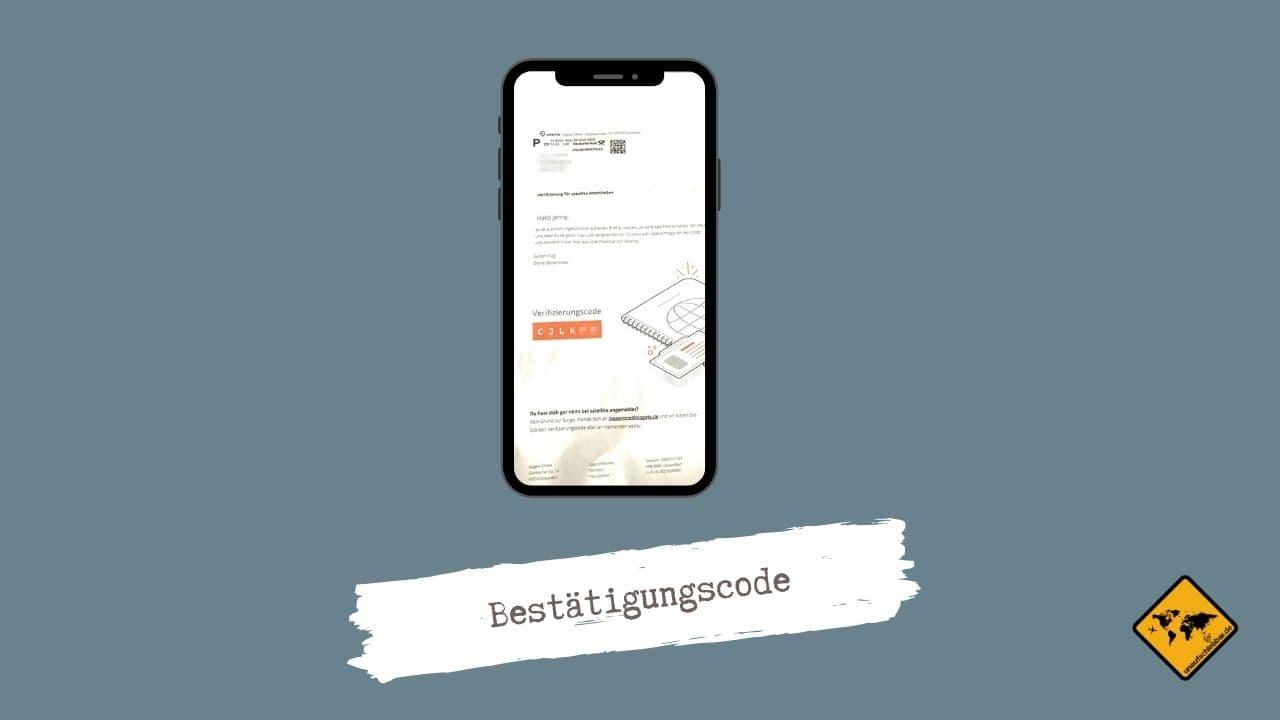 Satellite App Verifizierung Bestätigung Code