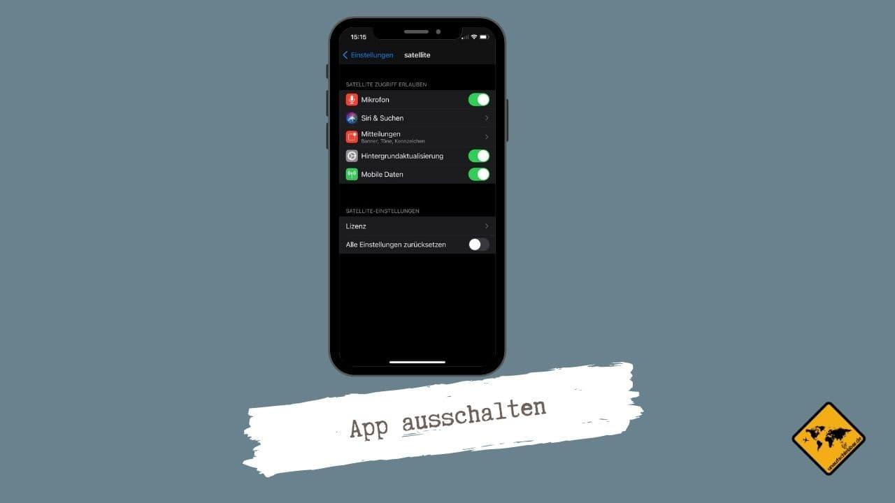 Satellite App ausschalten 2