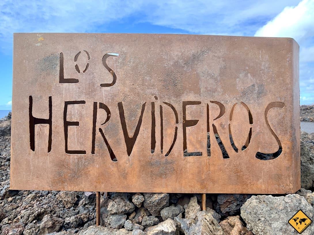 Schild Los Hervideros Lanzarote