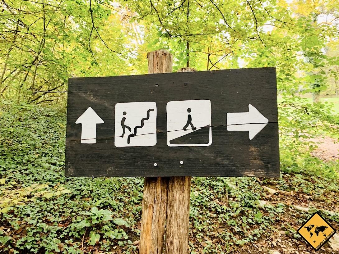 Schild Weg Stufen ebenerdig