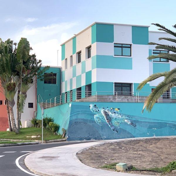Schildkröte Streetart Puerto del Rosario