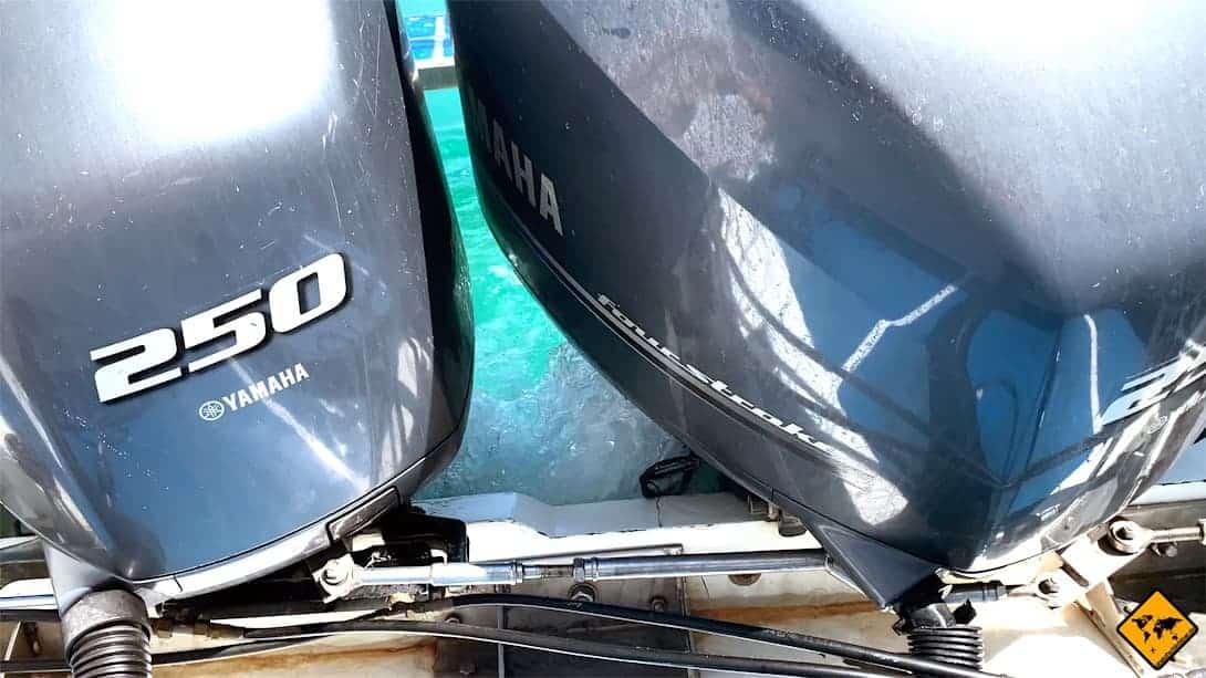 Schnellboot Anreise nach Koh Phi Phi Motoren
