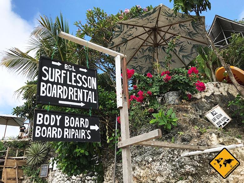 Schönste Strände Bali Bingin Beach Surfen