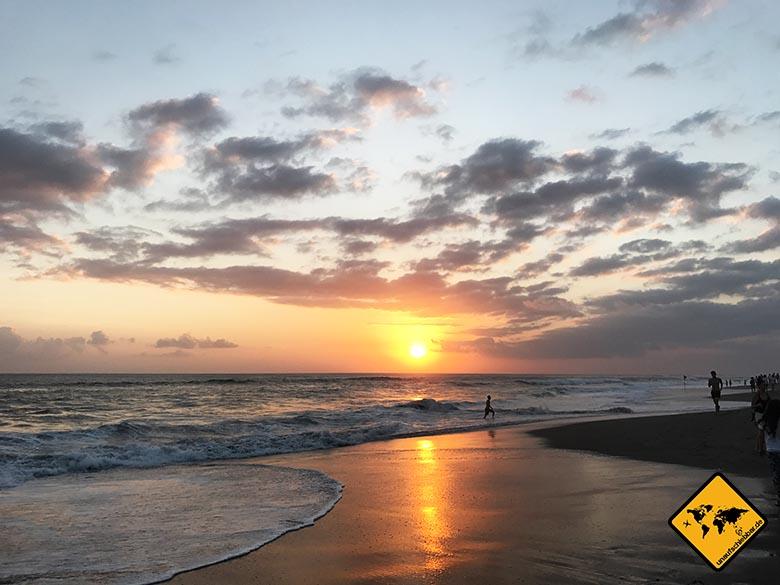 Schönste Strände Bali Canggu Sonnenuntergang