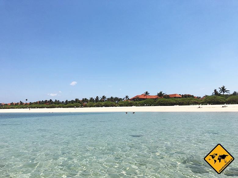 Schönste Strände Bali Nusa Dua Beach Naturpool