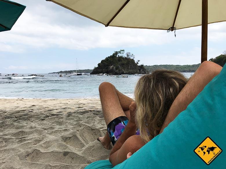 Schönster Bali Strand Crystal Bay Sitzsack