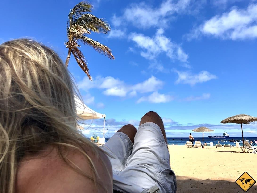 Schönster Strand auf Teneriffa Playa de las Teresitas