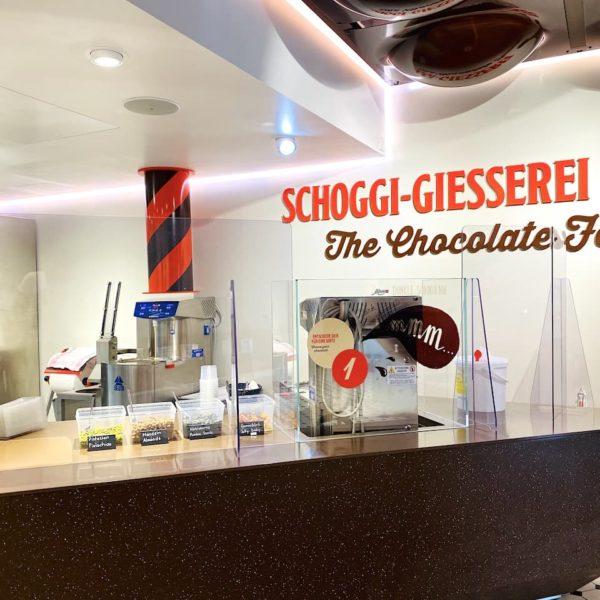 Schoggi Giesserei Maestrani's Chocolarium Schweiz