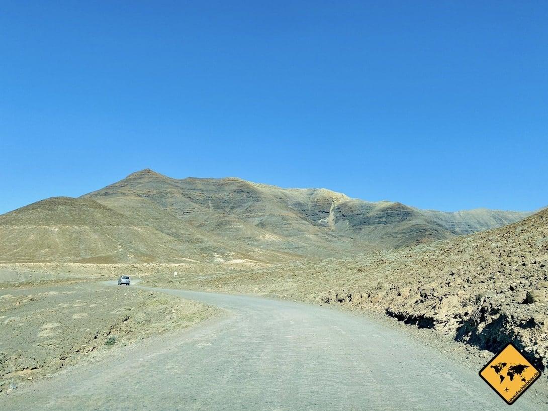 Schotterweg Cofete Fuerteventura