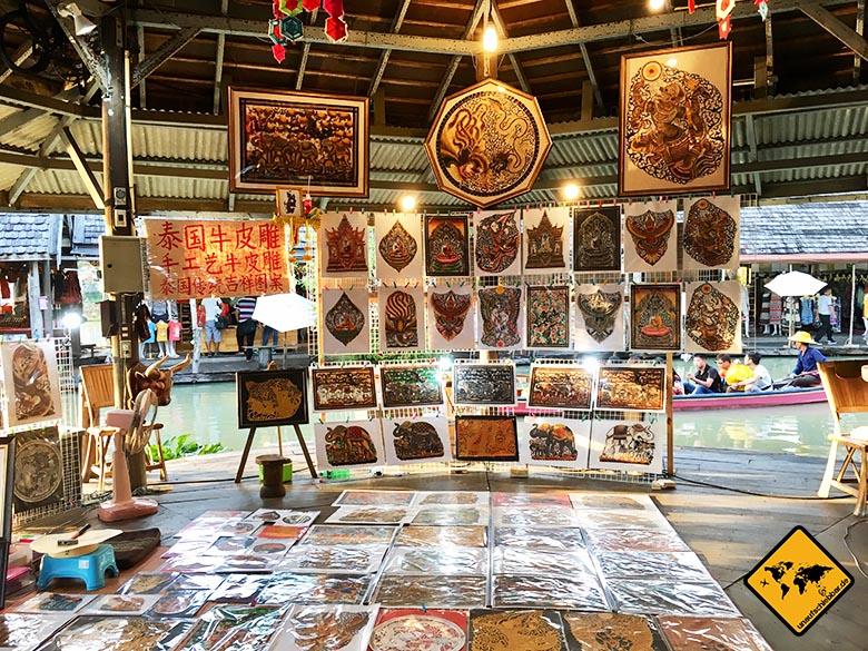 Schwimmender Markt Pattaya Kunst