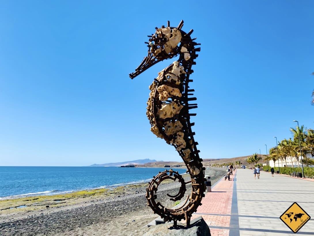 Seepferdchen Skulptur Tarajalejo Fuerteventura
