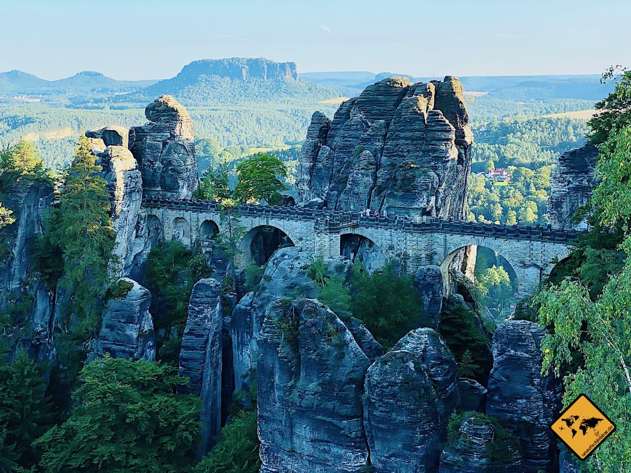 Sehenswürdigkeiten Dresden Umgebung Basteibrücke Sächsische Schweiz