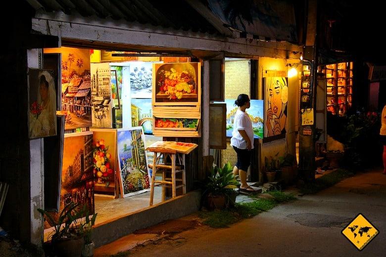 Sehenswürdigkeiten Koh Samui Lamai Beach Shopping