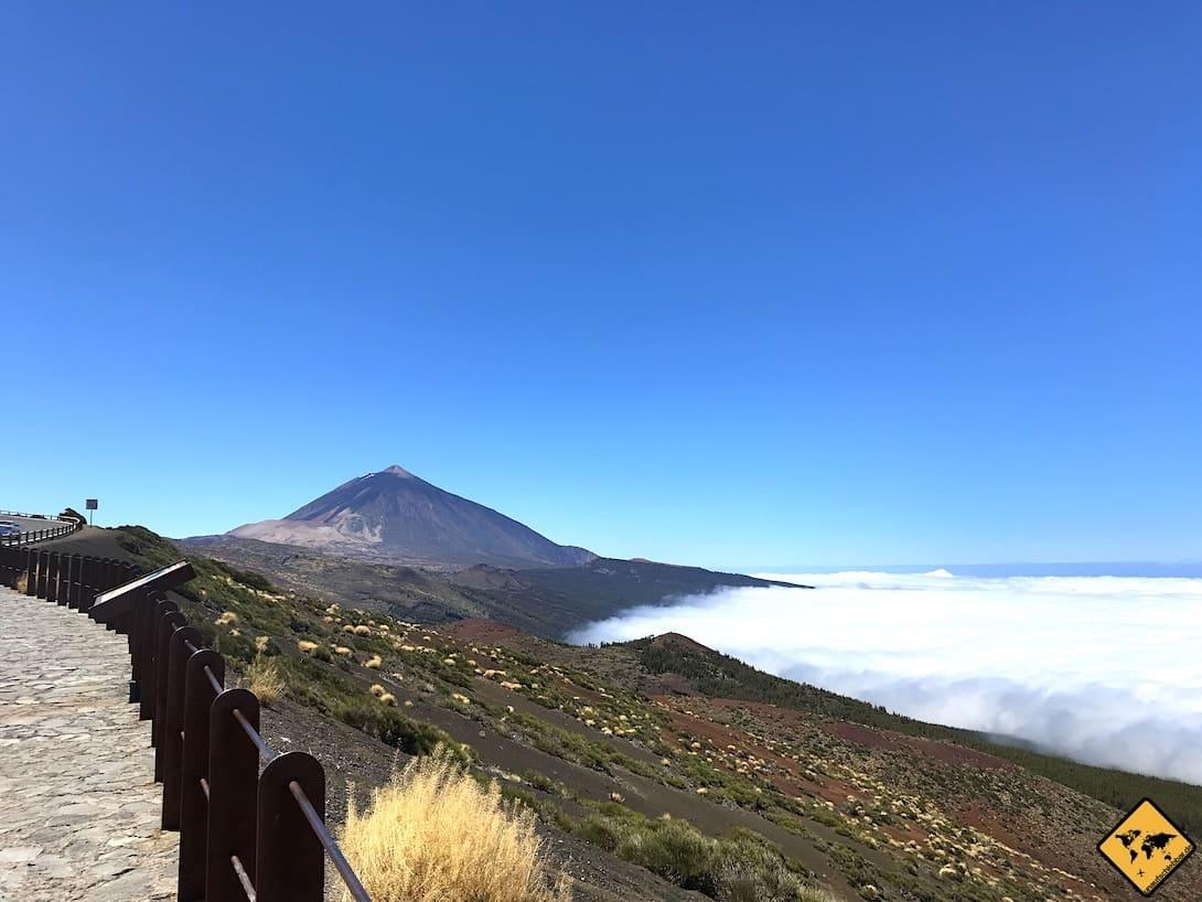 Sehenswürdigkeiten Teneriffa Teide Wolken