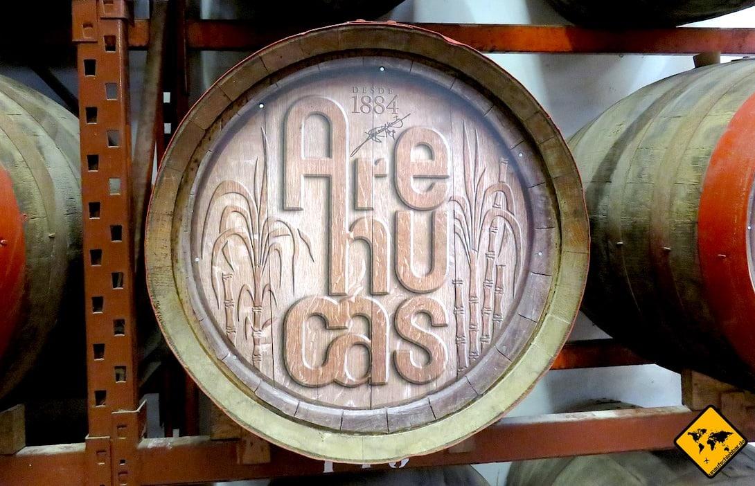Sehenswürdigkeiten auf Gran Canaria Rum-Fabrik Arehucas Fass