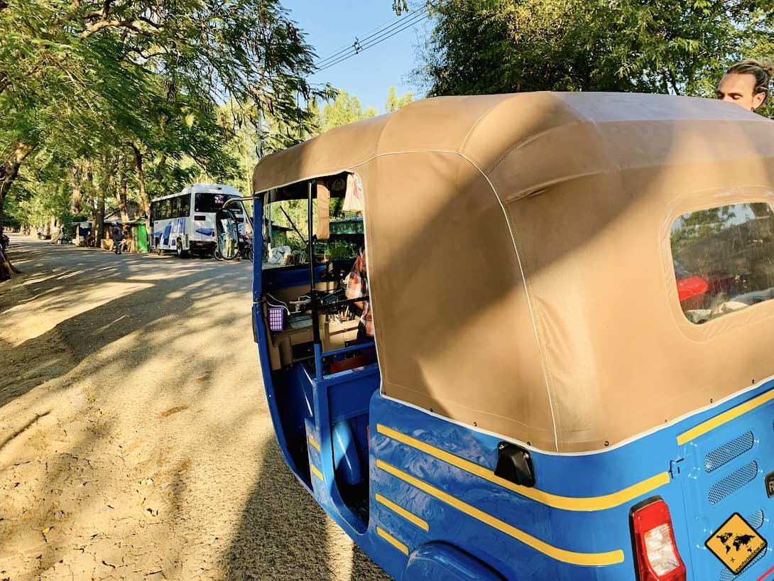 Sicherheit in Myanmar Tuk Tuk