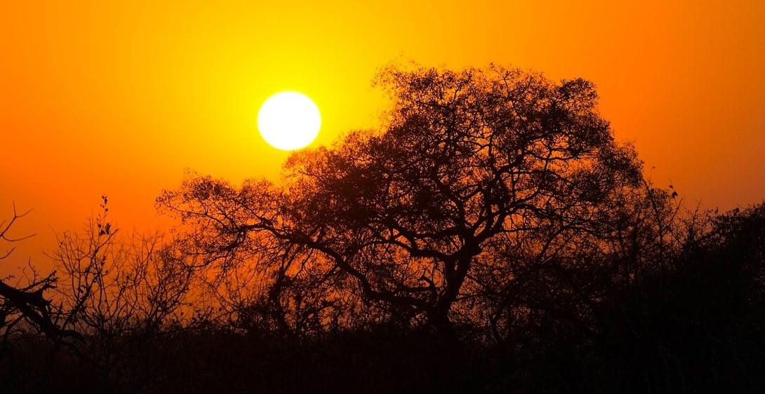 Sicherheit in Südafrika Sonnenuntergang