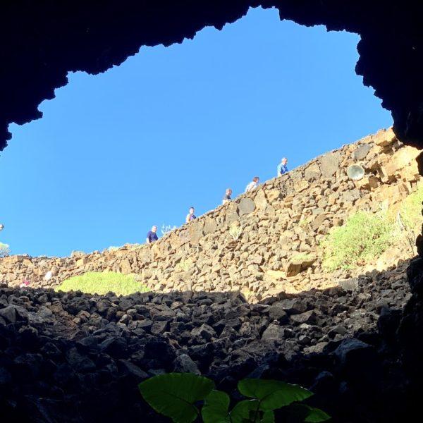 Sicht Lavahöhle innen