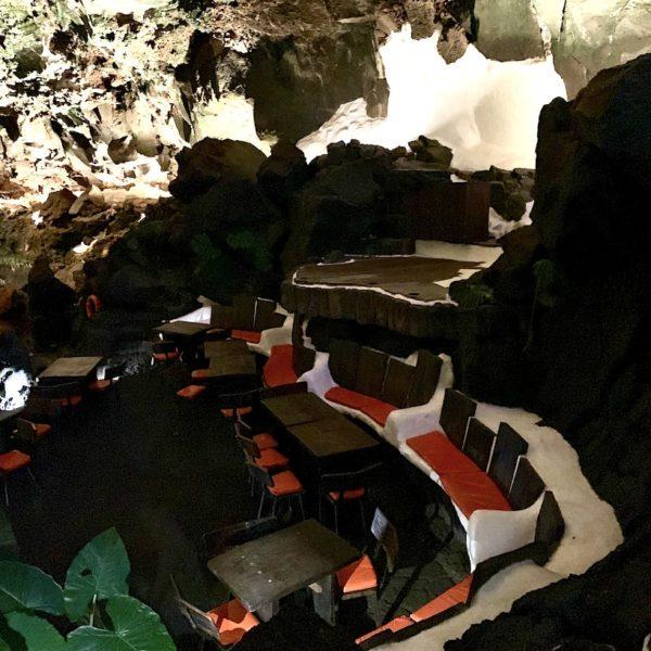 Sitzbereich Jameos del Agua Lanzarote