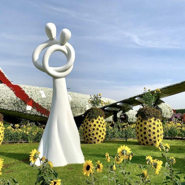 Skulptur Blumengarten Dubai