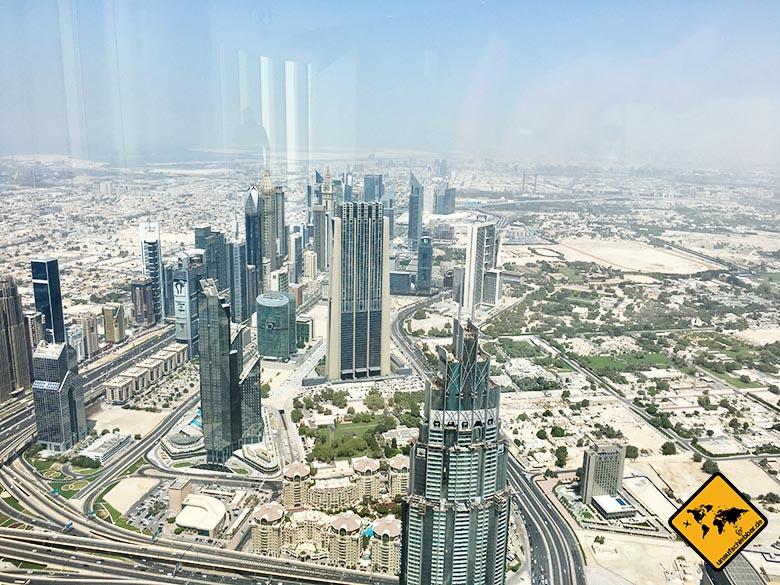 Skyline Aussicht von der Burj Khalifa Aussichtsplattform